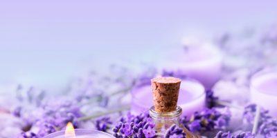 Lavendel  -  Lavendell und Duftkerze